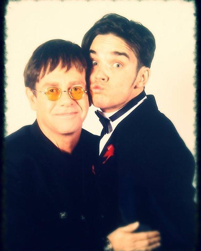 Robbie Williams e Elton John (Foto: Instagram / Reprodução)