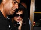 Lindsay Lohan embarca em aeroporto de São Paulo
