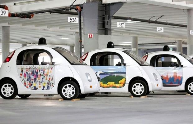 Carros autônomos da Google ganham arte especial nas portas (Foto: Divulgação)