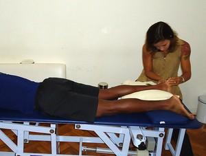 corrida lesão tarcísio pé (Foto: Luisa Prochnik / Globoesporte.com)