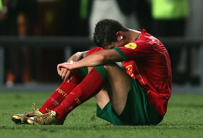 Cristiano Ronaldo Portugal x Grecia Euro 2004 (Foto: Getty Images)
