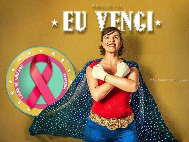 """Francesca Valenti posando para o ensaio """"Eu Venci"""" em Mogi das Cruzes (Foto: Mayne Rabello/ Divulgação)"""