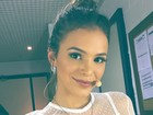 Bruna Marquezine usa look transparente em gravação