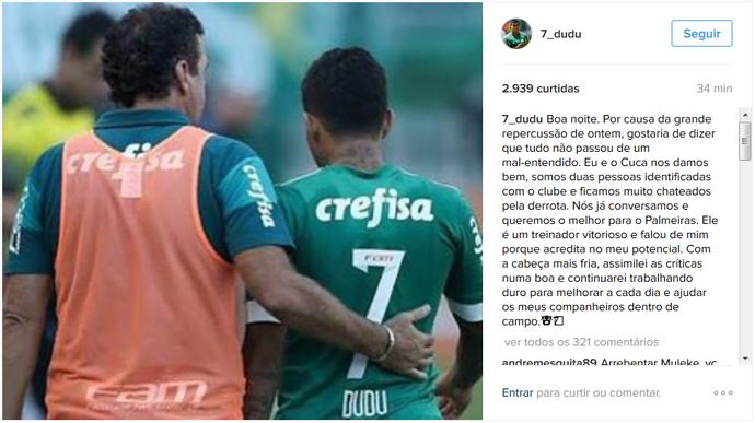 Cuca Dudu Palmeiras (Foto: Reprodução/Instagram)