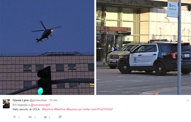 Supostas imagens do UCLA Hospital, onde Beyoncé estaria prestes a dar à luz (Foto: Reprodução/Twitter)