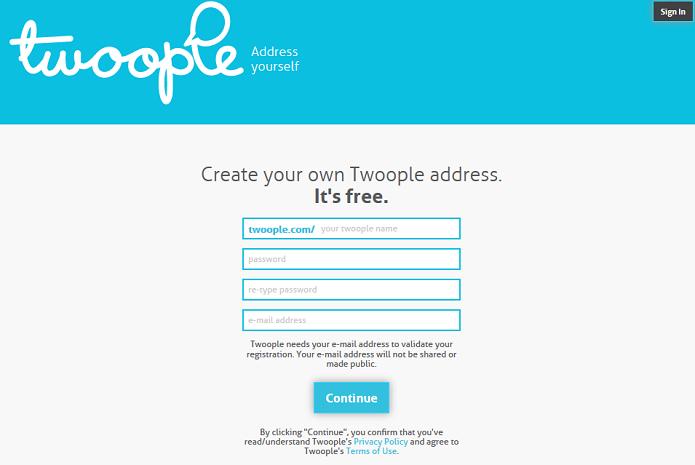 Twoople cria sites de bate-papo para cada usuário (Foto: Divulgação/Twoople)