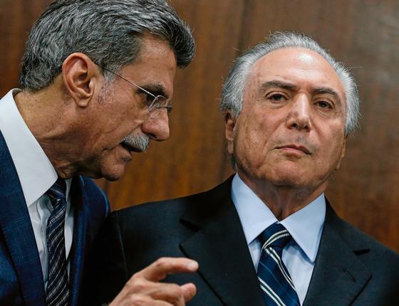 O senador Romero Jucá e o presidente Michel Temer  (Foto: Pedro Ladeira/Folhapress)