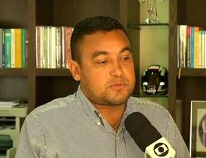 Eliel Tavares, diretor de futebol do América-RN (Foto: Reprodução/Inter TV Cabugi)