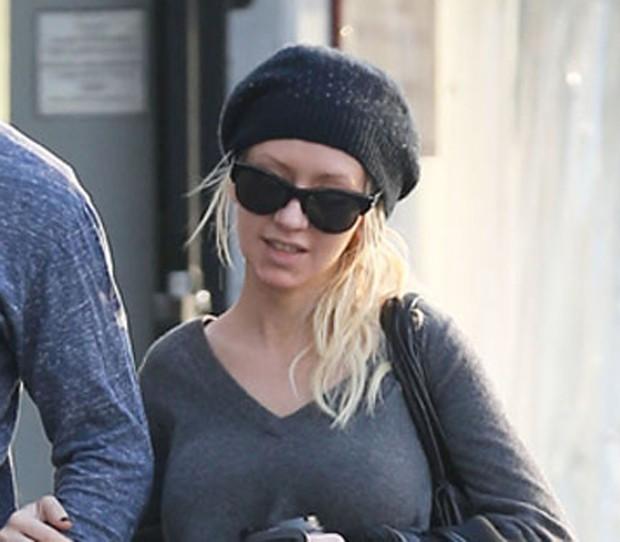 Christina Aguilera sem maquiagem (Foto: Reprodução)