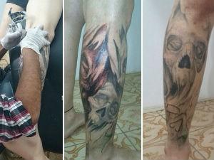 Roqueiro coleciona tatuagens pelo corpo (Foto: Reprodução/Facebook)