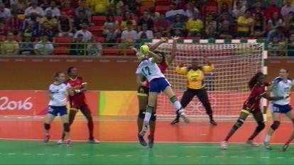 Melhores momentos: Rússia 31 x 27 Angola pelo handebol feminino