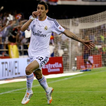 Di Maria Barcelona x Real Madrid - Copa do Rei (Foto: AFP)