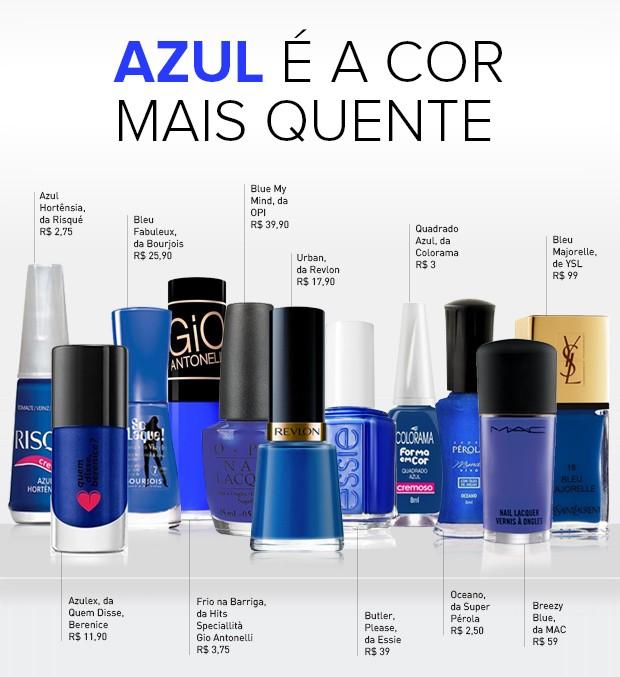 Esmalte Azul (Foto: EGO)