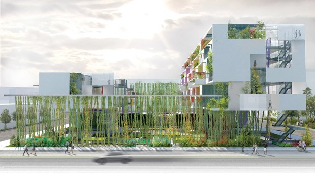 Na categoria Residencial o vencedor foi um projeto chamado Liaisions, na China. O projeto visa criar uma coexistência harmoniosa entre a vida urbana e a natureza (Foto: AR MIPIM Future Projects Awards)