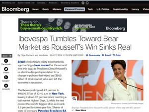 Reportagem da Bloomberg (Foto: Reprodução/Bloomberg)