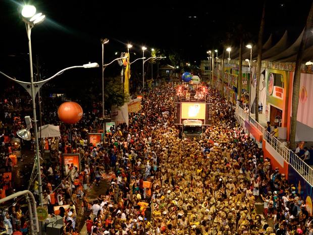 Ilê Aiyê desfila no Campo Grande (Foto: Sérgio Pedreira/Ag. Haack)