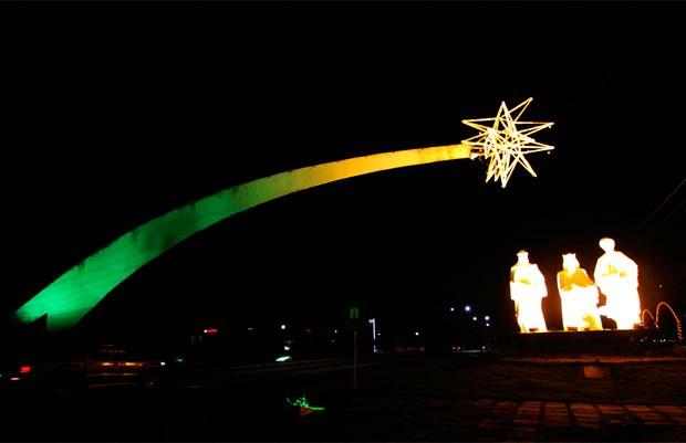 Pórtico dos Reis Magos fica na BR-101, na entrada da capital potiguar (Foto: Divulgação/Prefeitura de Natal)