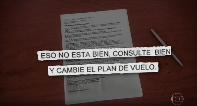 Plano de voo da LaMia (Foto: Reprodução)