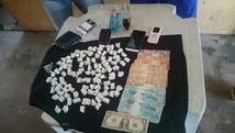 Trio é preso com 113 papelotes de cocaína (Policia civil/ divulgação)