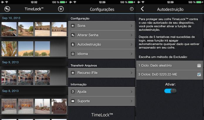 Guarde informações importantes em seu dispositivo Com o TimeLock (Foto: Divulgação/AppStore)