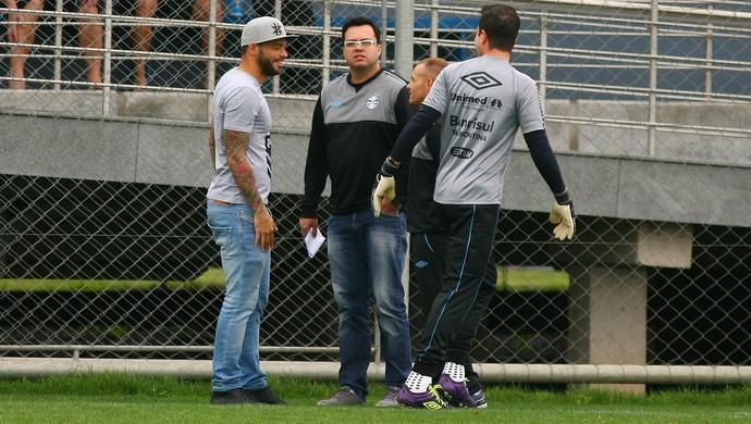Edinho Marcelo Grohe Grêmio (Foto: Lucas Uebel/Grêmio)
