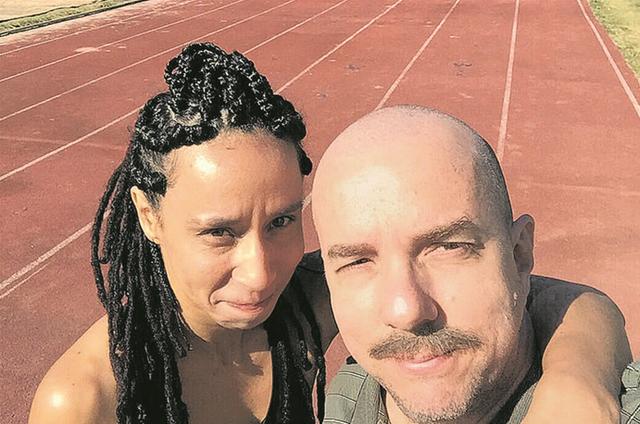 Thalita Carauta e Augusto Madeira foram companheiros em 'Zorra', agora rodam o longa '4x100' (Foto: Divulgação)