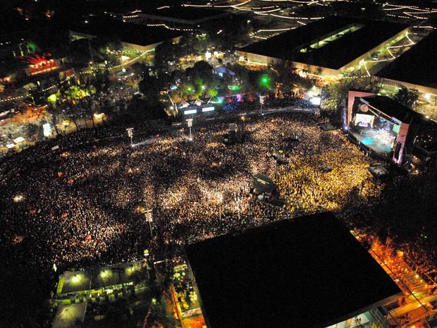 Vista aérea Festival de Verão (Foto: Divulgação)