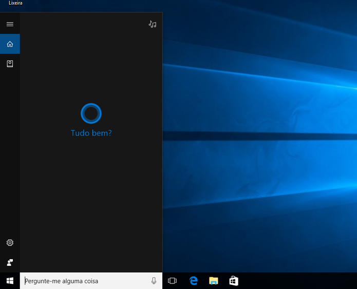 Cortana funcionará normalmente em Português no Windows 10 (Foto: Reprodução/Elson de Souza)