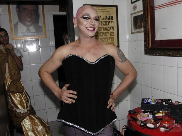 Ex-BBB Vagner Lara em bastidores de show em São Paulo (Foto: Celso Tavares/ EGO)