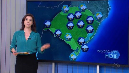 Bloqueio atmosférico deve manter instabilidade no RS até a quarta-feira