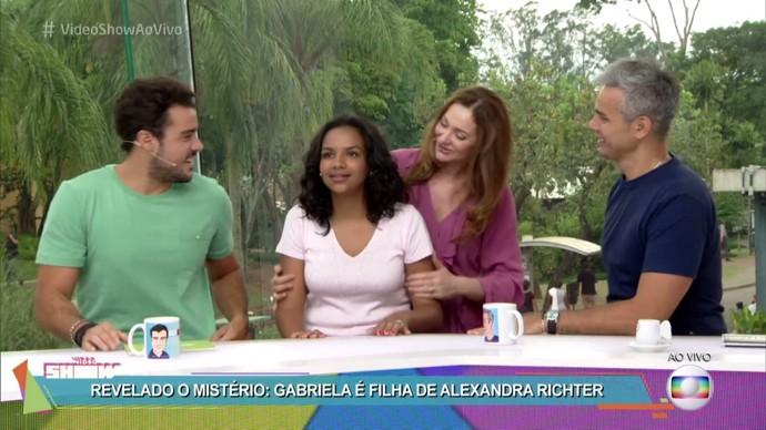 Gabriela é filha de Alexandra Richter (Foto: TV Globo)