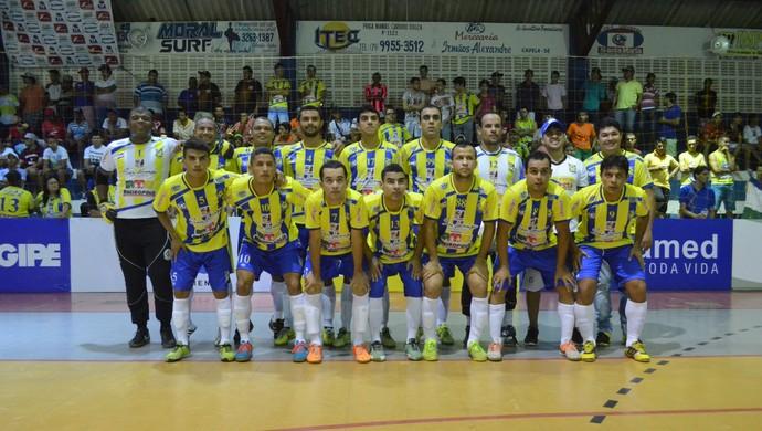 Seleção de Ribeirópolis está na semifinal da Copa TV Sergipe de Futsal (Foto: João Áquila / GloboEsporte.com)