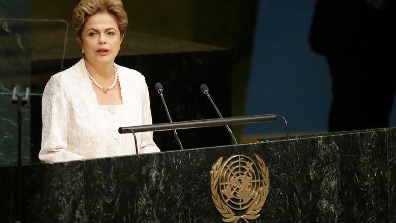 Dilma na ONu (Foto: Mary Altaffer/AP)
