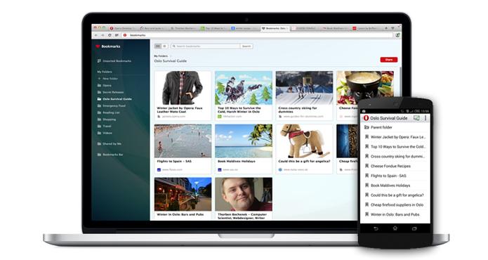 Nova versão do Opera pode sincronizar favoritos entre várias plataformas (foto: Reprodução/Opera) (Foto: Nova versão do Opera pode sincronizar favoritos entre várias plataformas (foto: Reprodução/Opera))