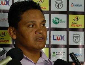 Humberto Santos, técnico do Treze (Foto: Silas Batista / GloboEsporte.com)