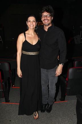 Helena Ranaldi e o namorado, Daniel Alvim, em teatro em São Paulo (Foto: Manuela Scarpa/ Foto Rio News)