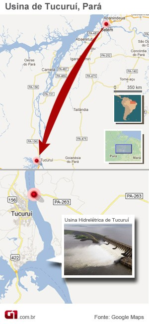 Info Tucuruí Acidente Lago (Foto: G1)
