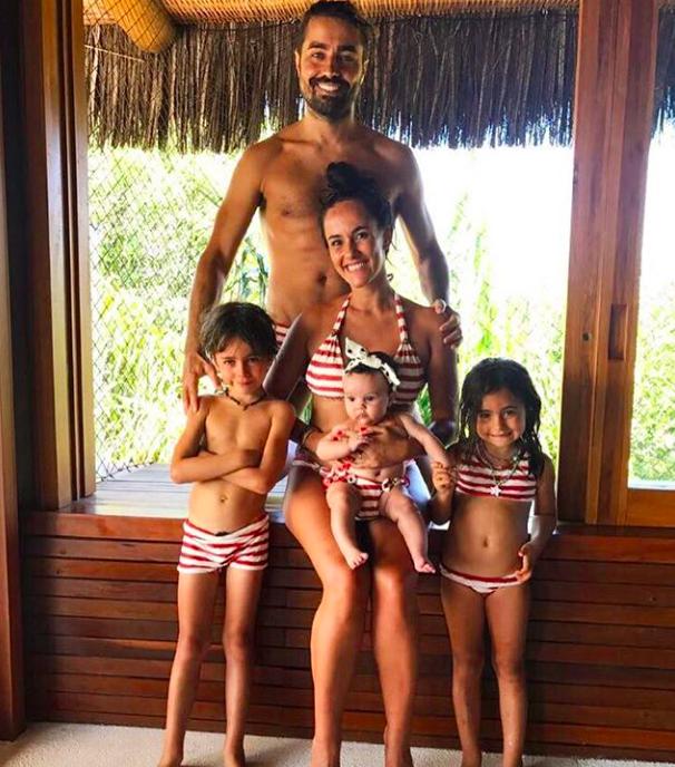 Ricardo Pereira com a família (Foto: reprodução/Instagram)