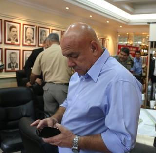 Luiz Moreira, representante do Grêmio na reunião, diretor-administrativo  (Foto: Eduardo Moura/Globoesporte.com)