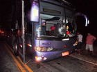 Ônibus de turismo e carreta são alvos de tiros durante assalto na RN-233