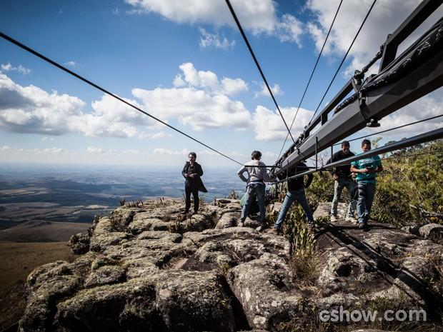 A paisagem da região impressiona equipe e elenco (Foto: Pedro Curi)