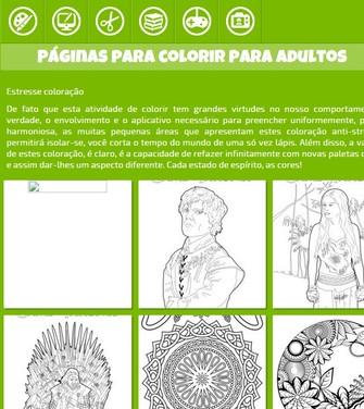 Hello Kids tem uma página de colorir voltada para adultos (Foto: Reprodução/Hello Kids) (Foto: Hello Kids tem uma página de colorir voltada para adultos (Foto: Reprodução/Hello Kids))