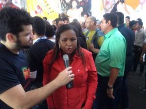 Daiana Ramos será vice na chapa de Jorge Amanajás (Foto: John Pacheco/G1)