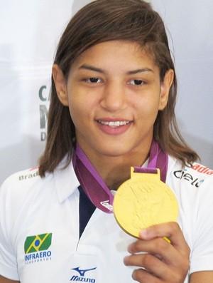 Sarah Menezes, medalhista de ouro em Londres (Foto: Rodrigo Faber / Globoesporte.com)