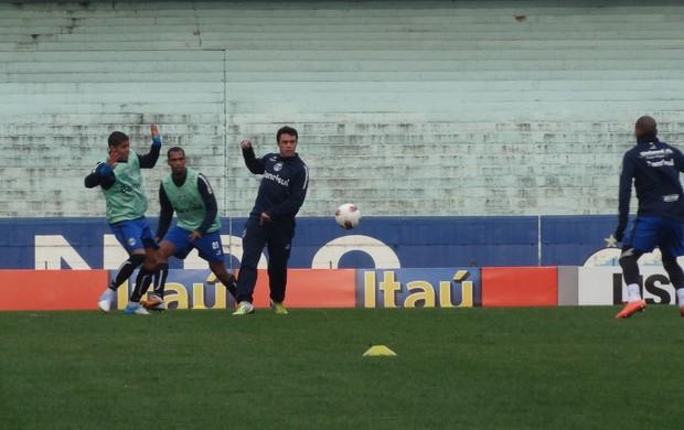 Grêmio treino Olímpico (Foto: Tomás Hammes / GLOBOESPORTE.COM)