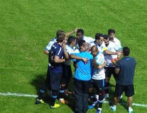 Comemoração do Grêmio contra o Passo Fundo