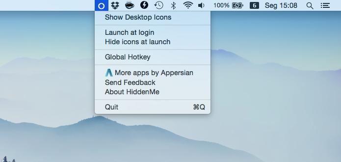 Reexibindo ícones na área de trabalho do Mac (Foto: Reprodução/Helito Bijora)