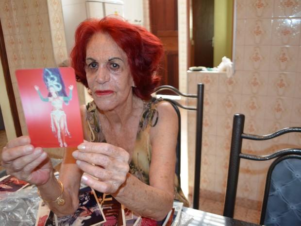 Clarice Albanez, rainha do carnaval de Aiuruoca por 33 vezes (Foto: Samantha Silva/G1)