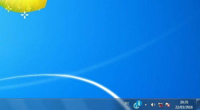 Ícone indicando cabo desconectado no Windows (Foto: Reprodução/Raquel Freire)