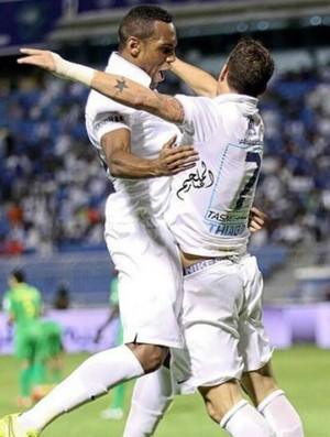 Thiago Neve e Digão Al-Hilal x Al Nassr Copa do Rei da Arábia (Foto: Divulgação)